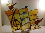 *Hot* Rock Stained Glass Clef by Spectral1um