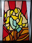 Stained glass portrait #1- The Singer by Spectral1um