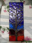 Solder tree against glass dusk- my 1st commission by Spectral1um