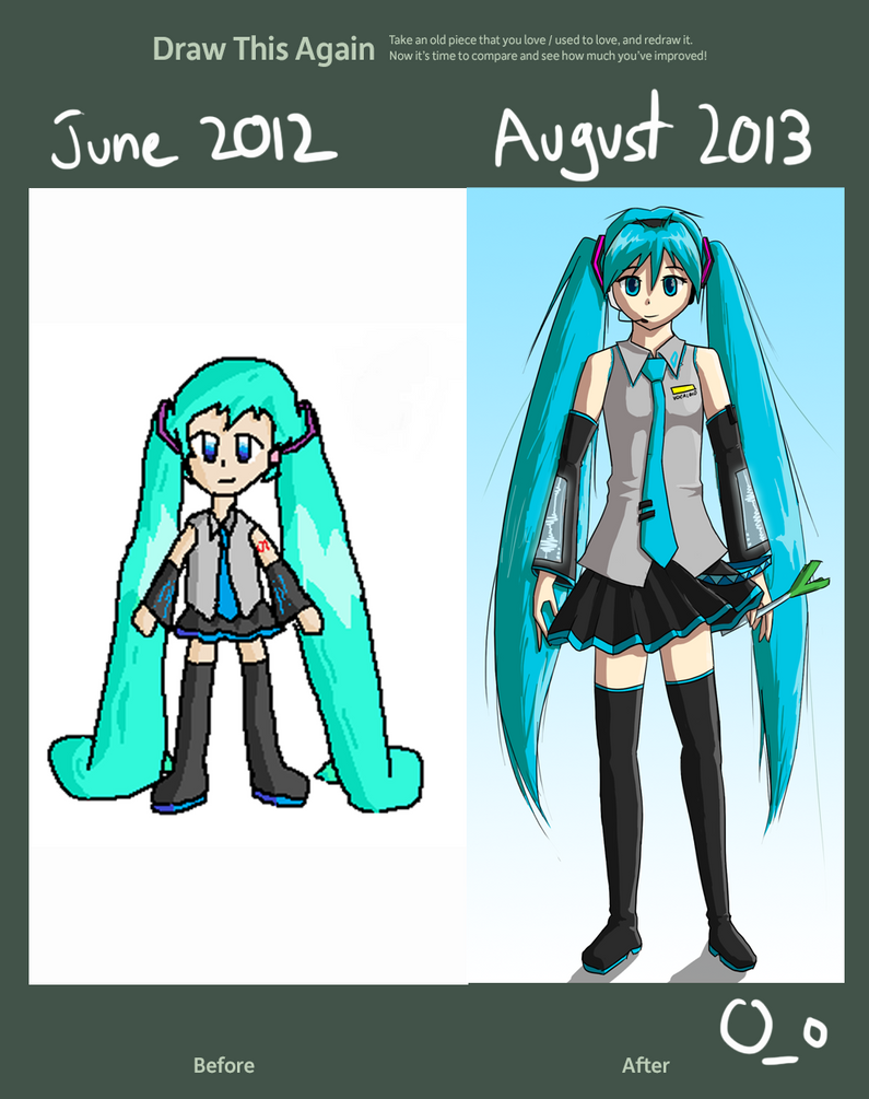 Draw Miku again by jibberldd5