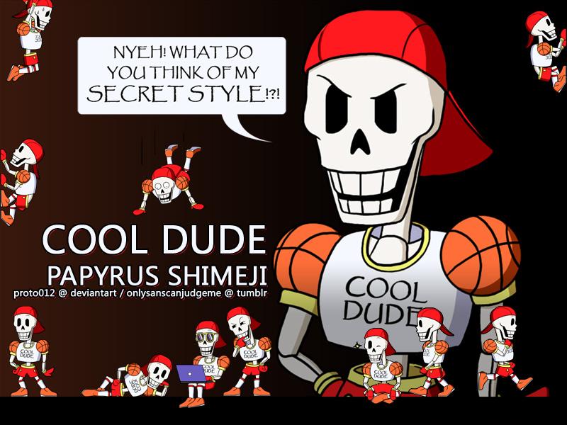 COOL DUDE Papyrus Shimeji - Downloads below! by Proto012