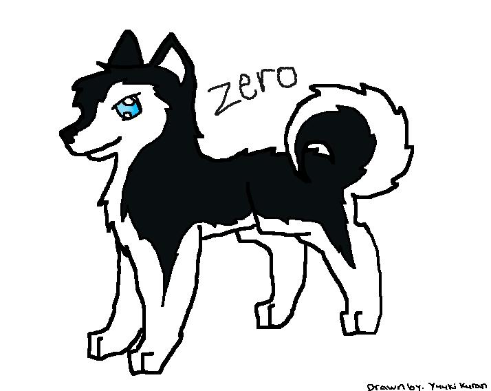 Husky Dog Drawing Husky Dog Drawing by