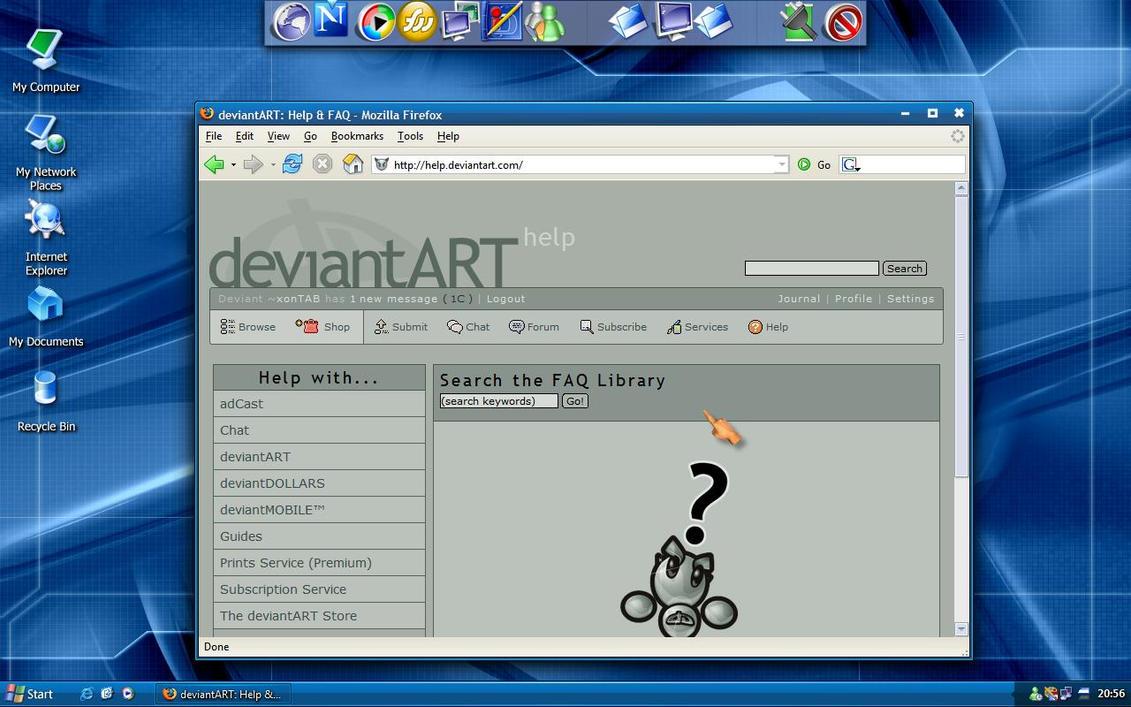 My Laptop's Desktop by xonTAB