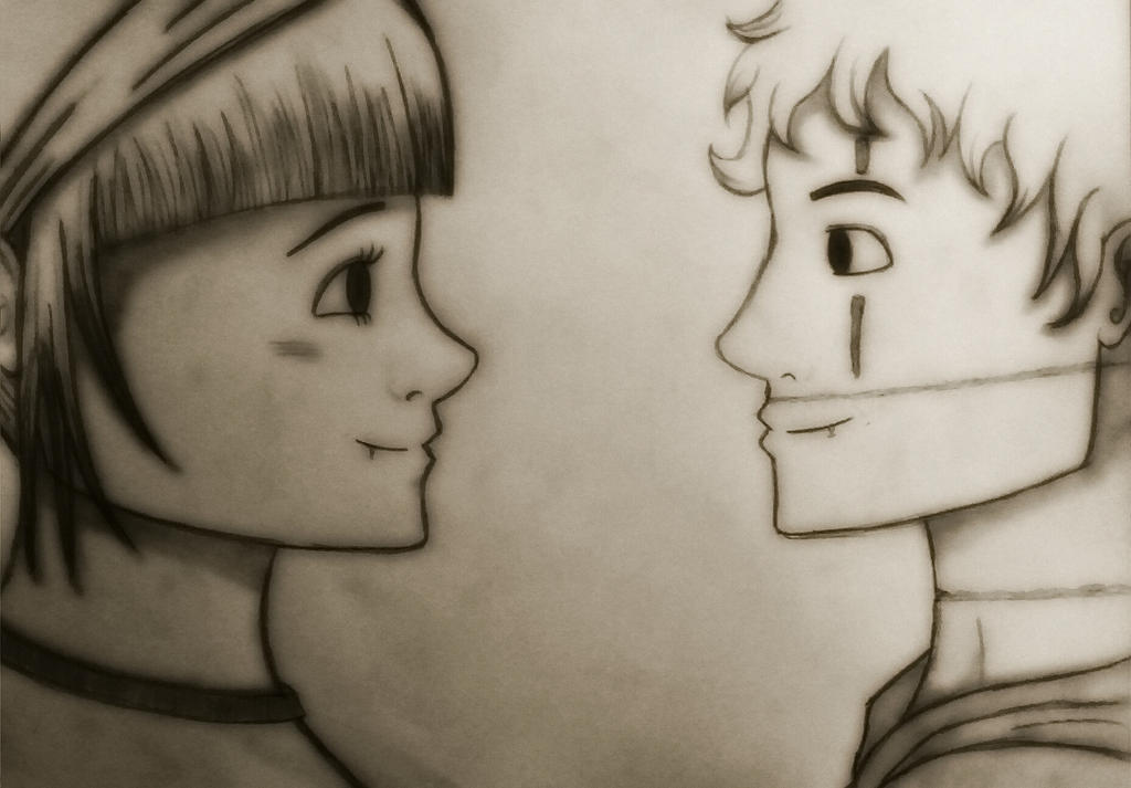 Olivia und Vincent  by Meganemoll
