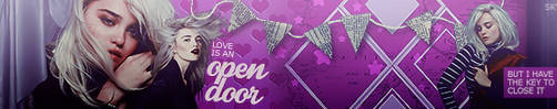 love is an open door - banner by skyelicius
