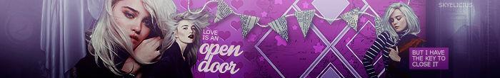 love is an open door - banner