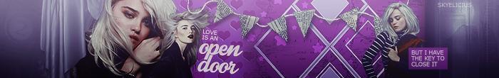 love is an open door - banner by skyelicius