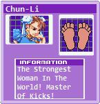 Foot File Card: Chun-Li (Street Fighter) by 3DFootFan