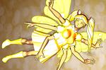 star Yellow golden butterfly