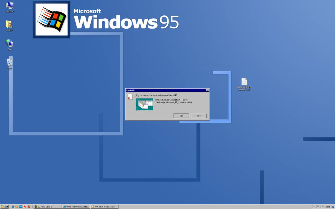 Windows 95 on Windows 7 by RMK99 on DeviantArt