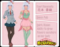 BnHA OC Ref Sheet: Kaori Hanamoto by josefumi