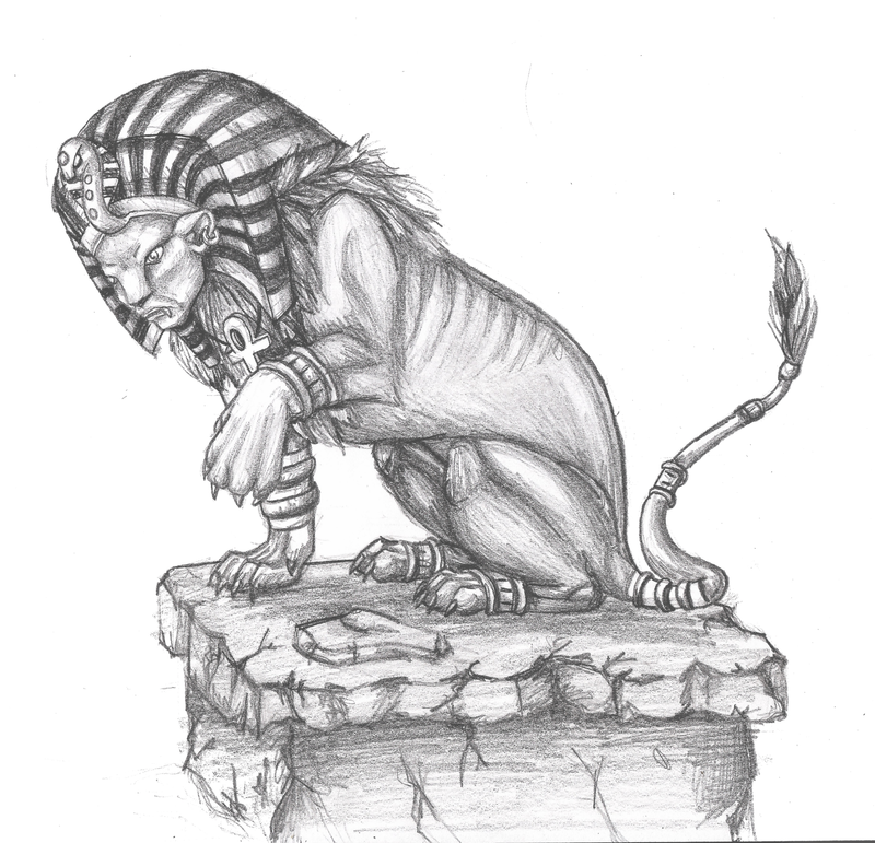 Sphinx Sketch by Suora...