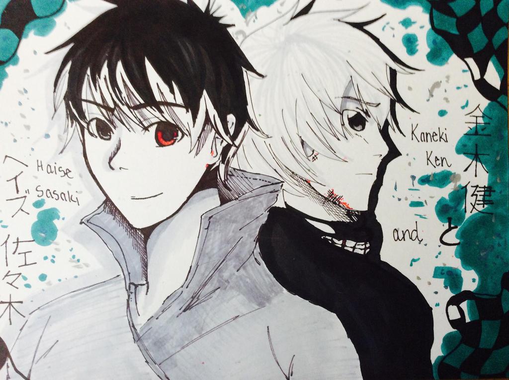 Kaneki Ken and Haise Sasaki (Tokyo Ghoul)