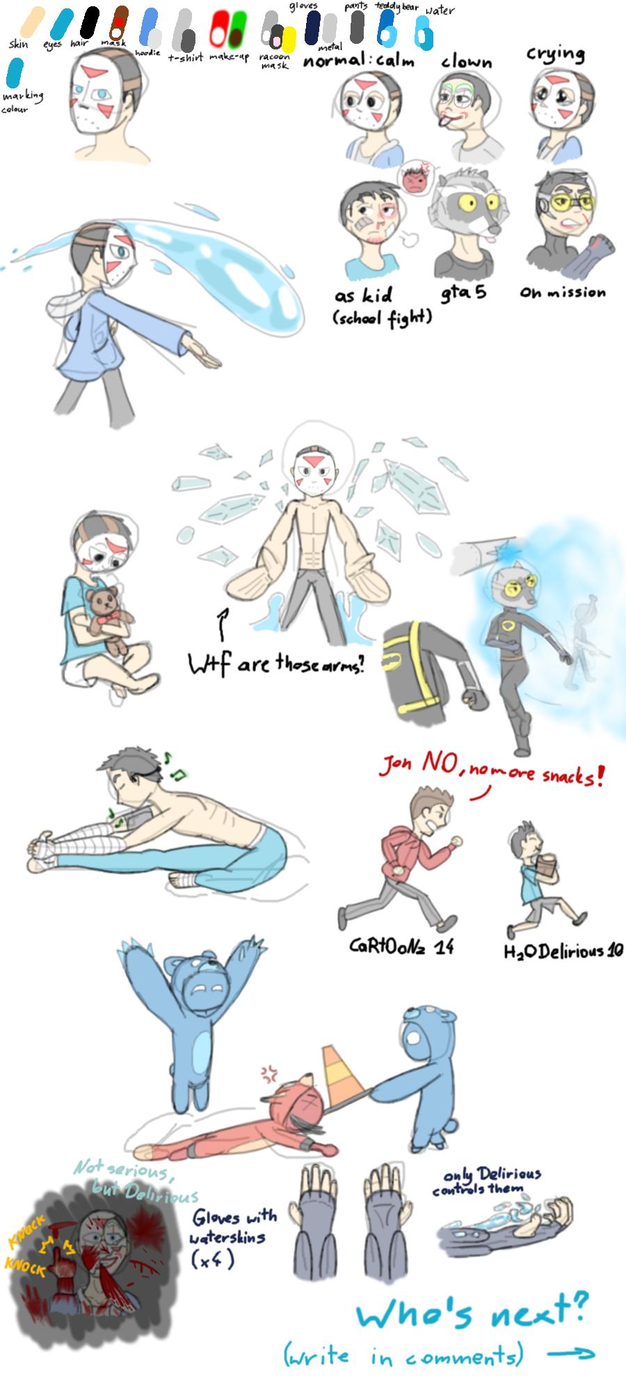 H2ODelirious - doodles by spiritfoxarts on DeviantArt