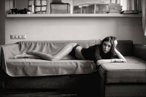 girl on the couch by karen-abramyan