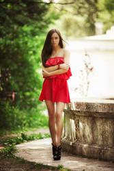girl at the fountain by karen-abramyan