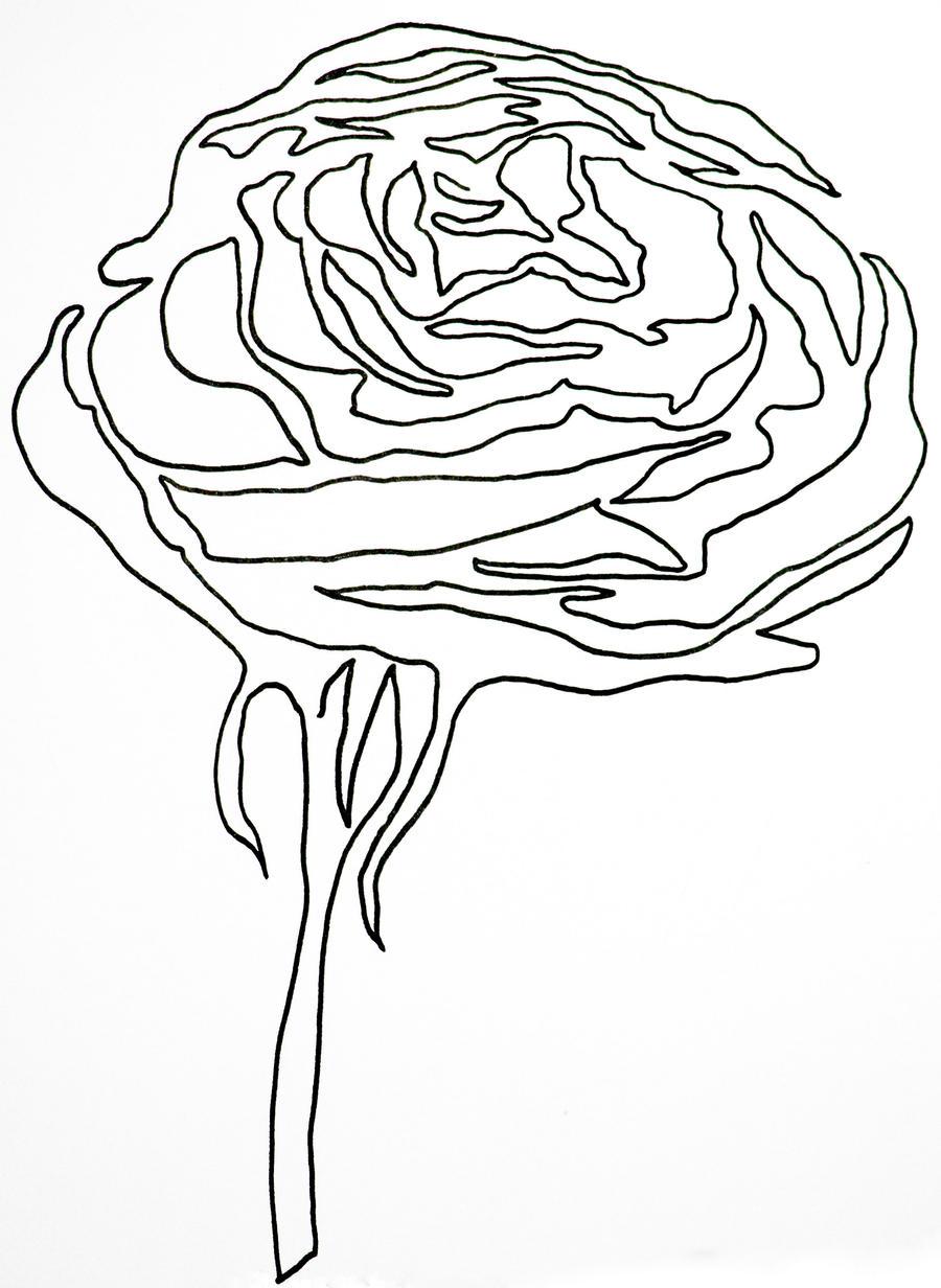 Single Line Unicode Art : Single line rose by hummingbbird on deviantart