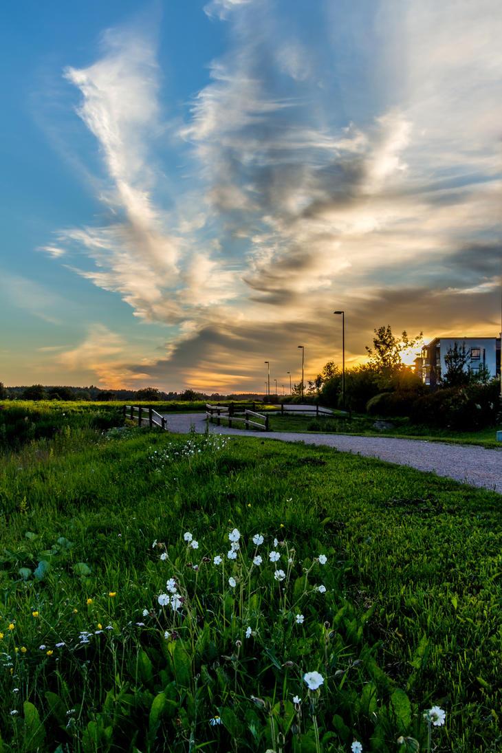 Summer Clouds And Sunset by okhascorpio