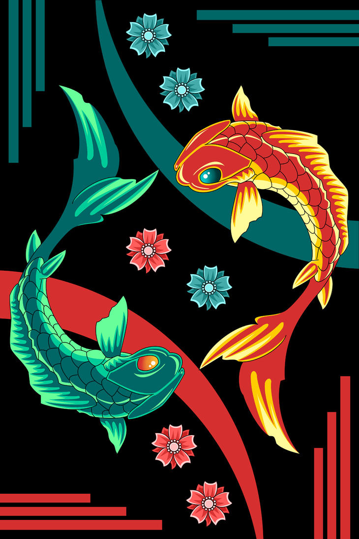 tao koi fish by sailorsaturn78