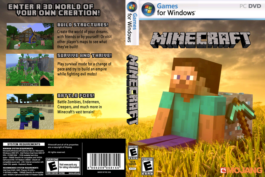 Minecraft 3ds Game Cover - happy with game