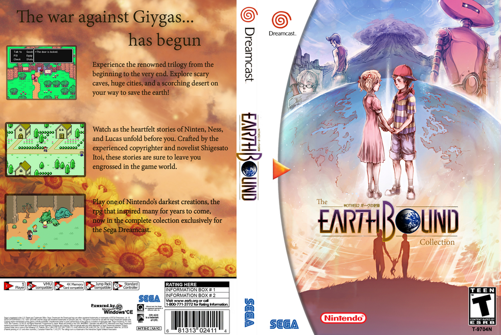 Charming Earthbound Collection Dreamcast Cover By Casuallynoted ...