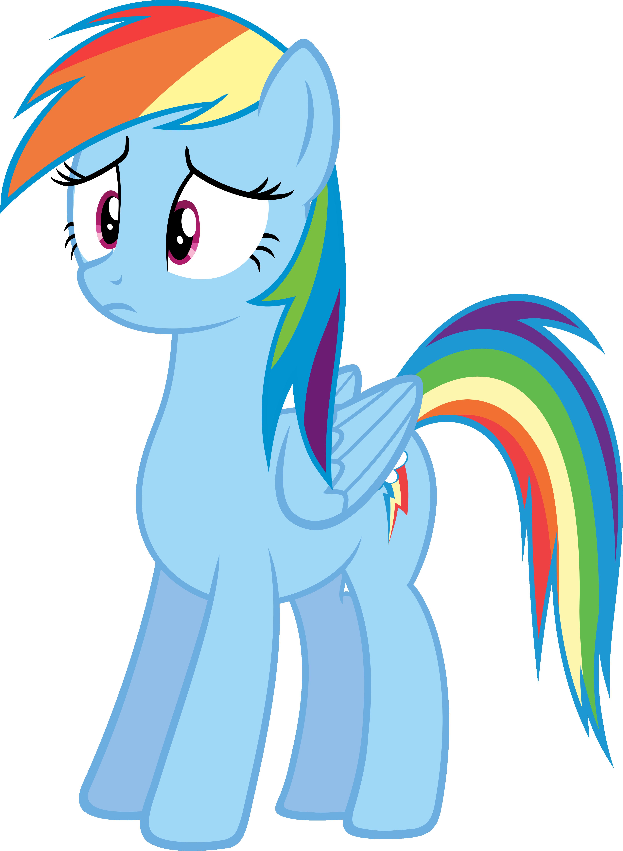 Rainbow dash sad
