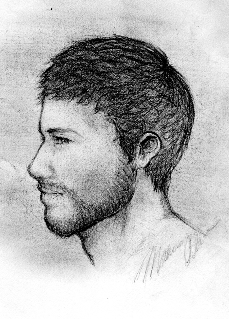 Line Drawing Of Face Profile : Profile sketch by moonshadow images frompo