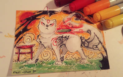 Little Amaterasu Card