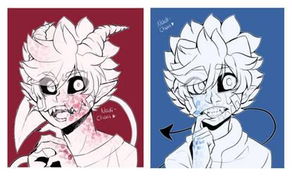 Nanashi and Ken - Teeth by Nadi-Chan