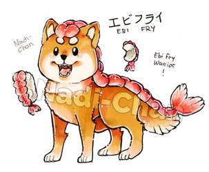 Ebi Fry Warrior Shiba-Chan + Speedpaint Video by Nadi-Chan