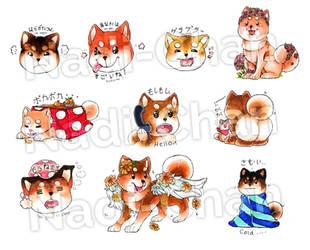 New Shiba Inu Stickers by Nadi-Chan