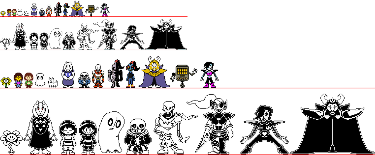 (Unfinished)Undertale sprites cast by TODY-BOX