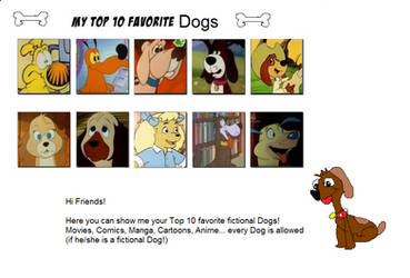My Top 10 Favorite Dogs by Dawalk86