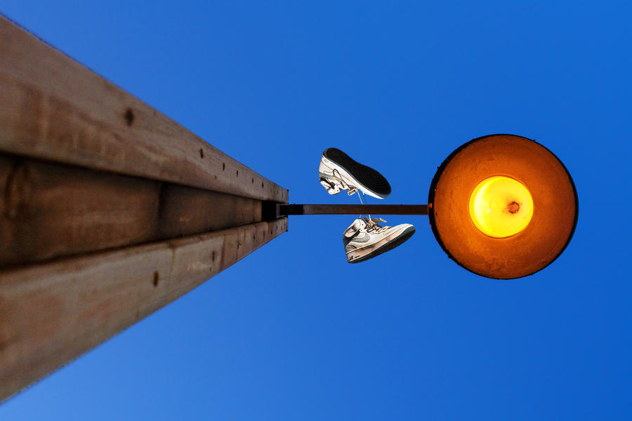 Invisible Man on Lamp by ahermin