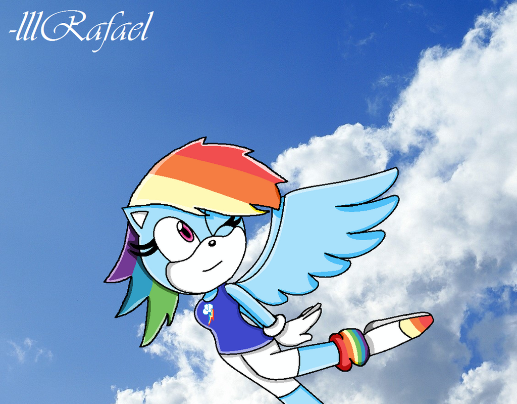 Rainbow Dash in Sonic Form by lllRafaelyay on DeviantArt