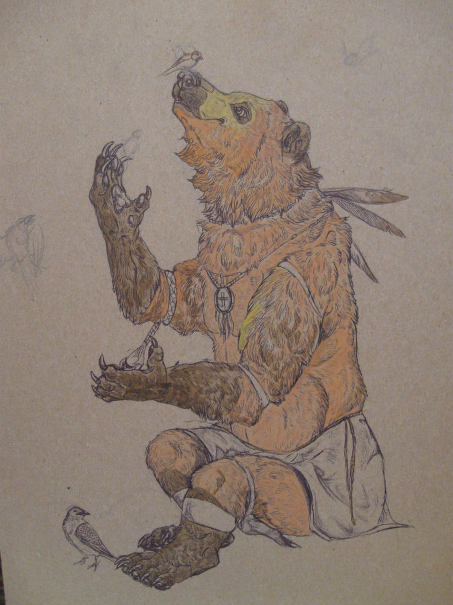 native american bear art
