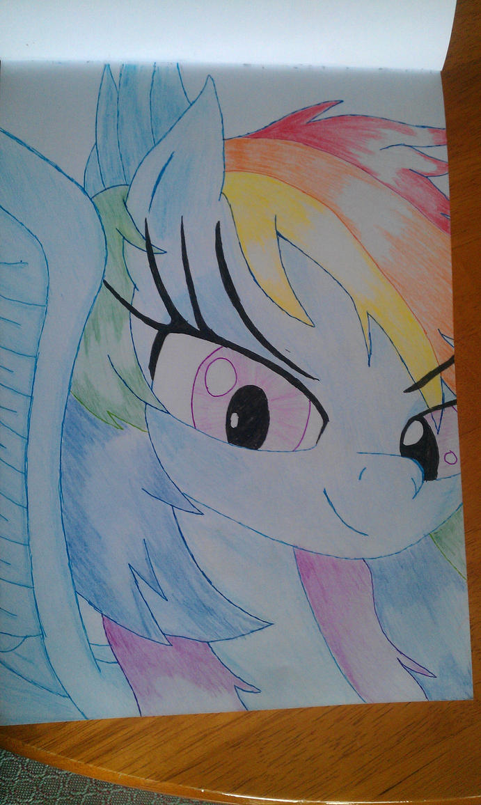 Rainbow Dash by MaybyAGhost