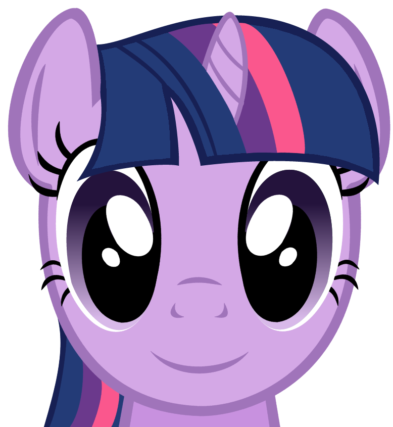Twilight Sparkle Face (Vector) by MaybyAGhost