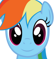 Rainbow Dash Face (Vector) by MaybyAGhost