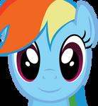 Rainbow Dash Face (Vector)