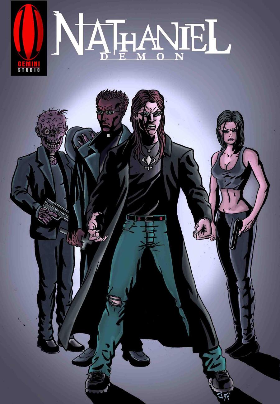 Nathaniel Demon Back cover Matrix by GeminiStudio