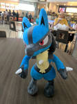 Lucario at the Food Court by NovaKaru