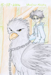 Buckbeak and Harry by Shadow-Rasha