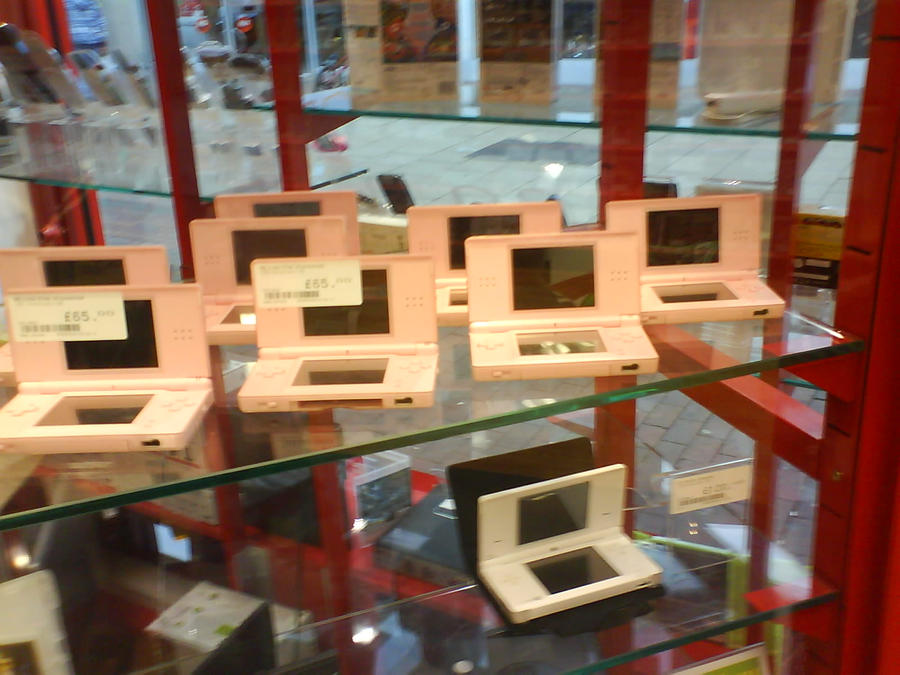 Abandoned Pink DS Lite's by laprasking