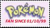 PKMN Fan Since 01.10.99 Stamp by laprasking