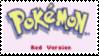 Pokemon Red Stamp