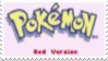 Pokemon Red Stamp by laprasking