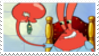 Mr Krabs + Plankton Stamp by laprasking