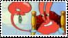 Mr Krabs + Plankton Stamp by laprasking