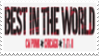 Best in the World Stamp by laprasking